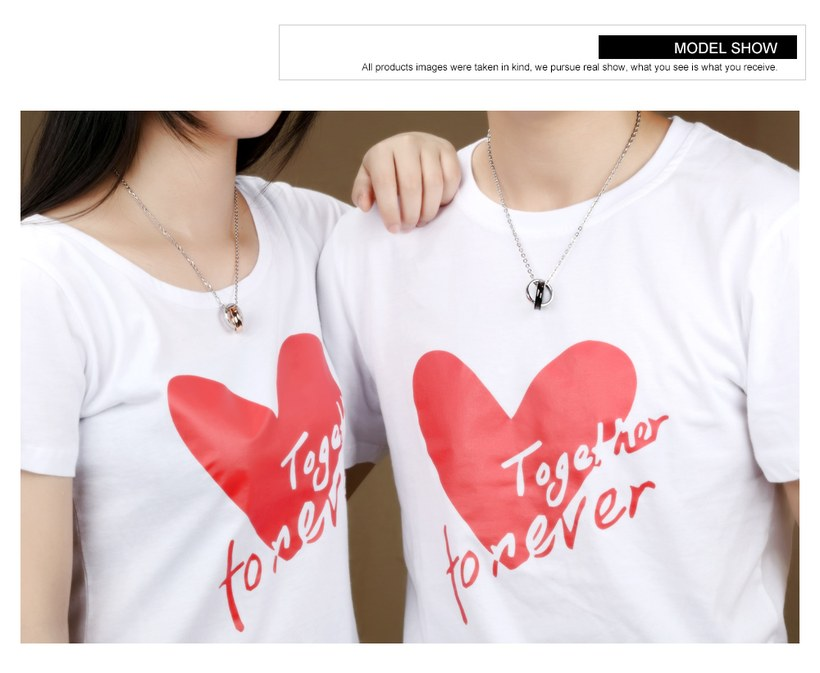 Wholesale New Fashion Stainless Steel Couples necklaceLovers TGSTN012 4