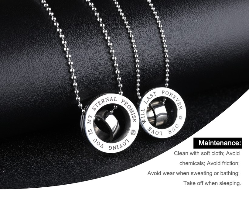 Wholesale New Fashion Stainless Steel Couples necklaceLovers TGSTN004 0