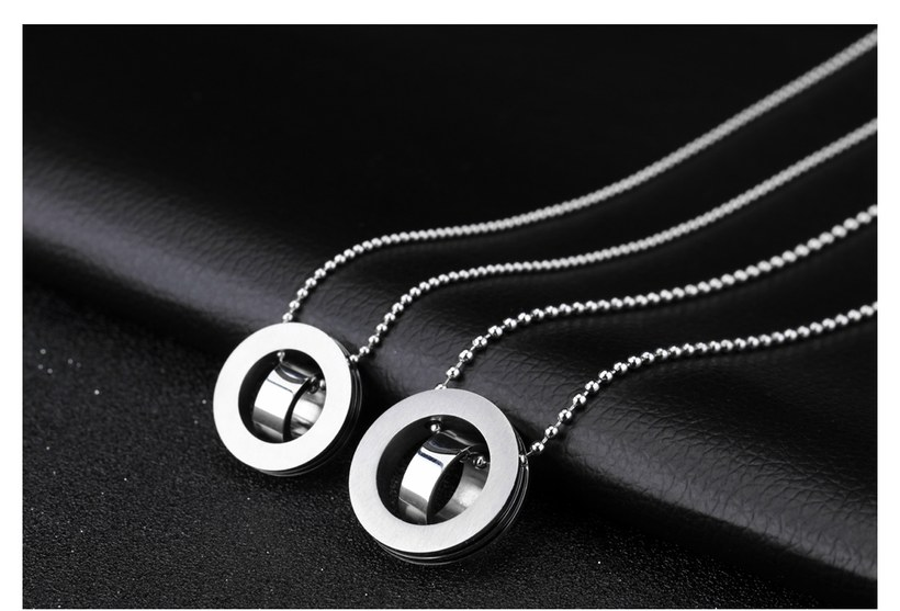 Wholesale New Fashion Stainless Steel Couples necklaceLovers TGSTN004 3