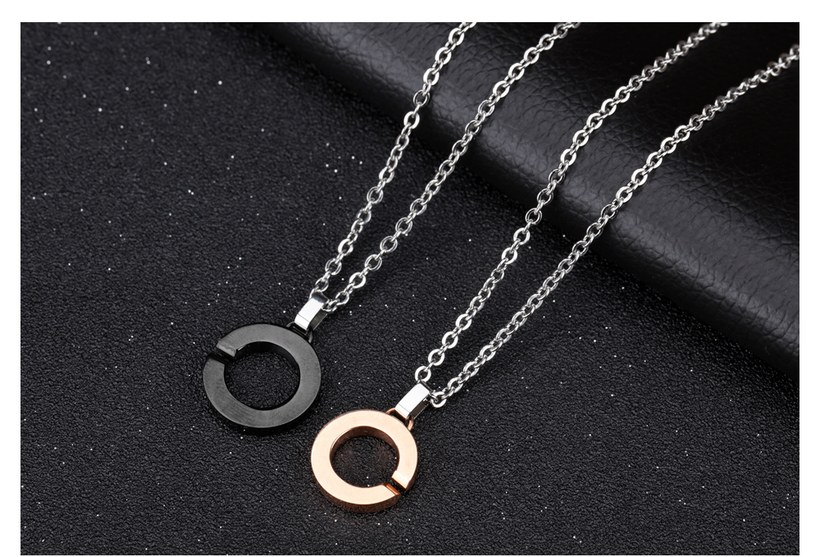 Wholesale New Fashion Stainless Steel Couples necklaceLovers TGSTN002 3