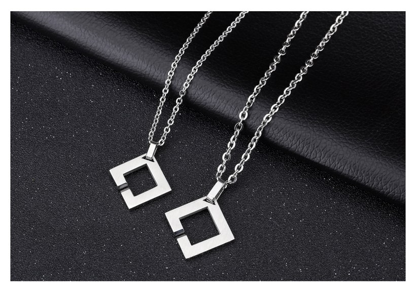 Wholesale New Fashion Stainless Steel Couples necklaceLovers TGSTN014 3
