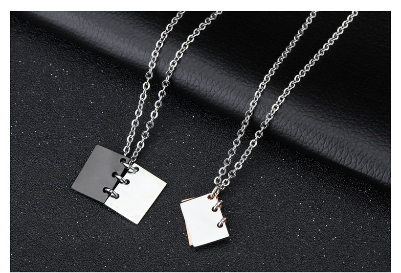 Wholesale New Fashion Stainless Steel Couples necklaceLovers TGSTN003 3