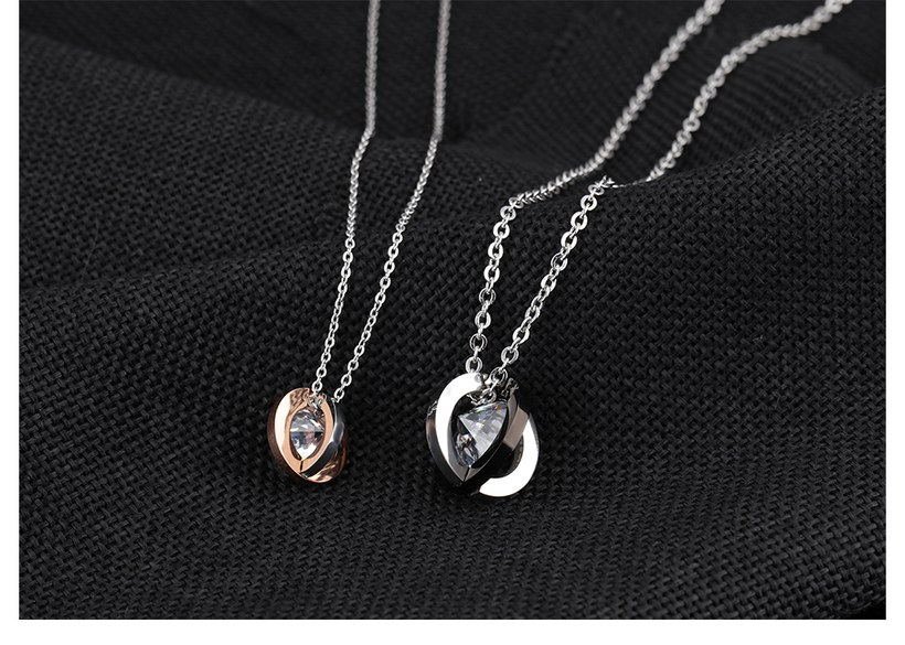 Wholesale New Fashion Stainless Steel Couples necklaceLovers TGSTN018 3