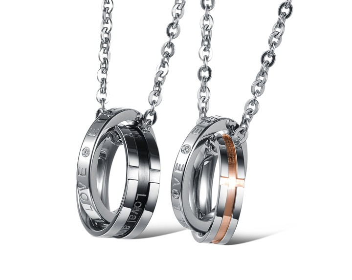 Wholesale Hot selling fashion stainless steel couples Necklace TGSTN063 0