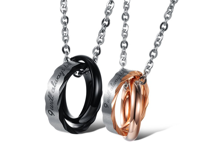 Wholesale Hot selling fashion stainless steel couples Necklace TGSTN064 0