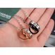 Wholesale Hot selling fashion stainless steel couples Necklace TGSTN064 1