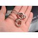Wholesale Fashion stainless steel CZ couples Necklace TGSTN026 3