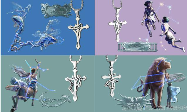 Wholesale Aquarius Constellations 316L Stainless Steel Necklace TGSTN069 4