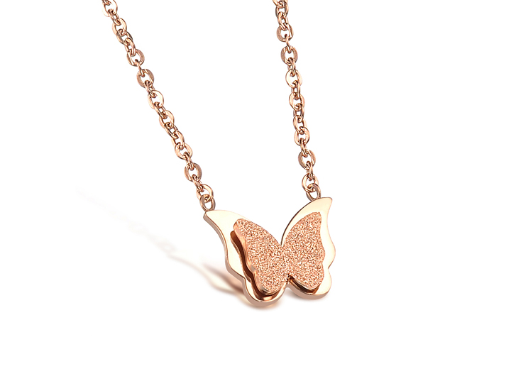 Wholesale Hot selling fashion jewelry stainless steel butterfly Necklace TGSTN131 0