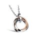 Wholesale Free shipping fashion stainless steel jewelry multiple ring couples Necklace TGSTN031 1