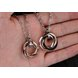 Wholesale Free shipping fashion stainless steel jewelry multiple ring couples Necklace TGSTN031 4