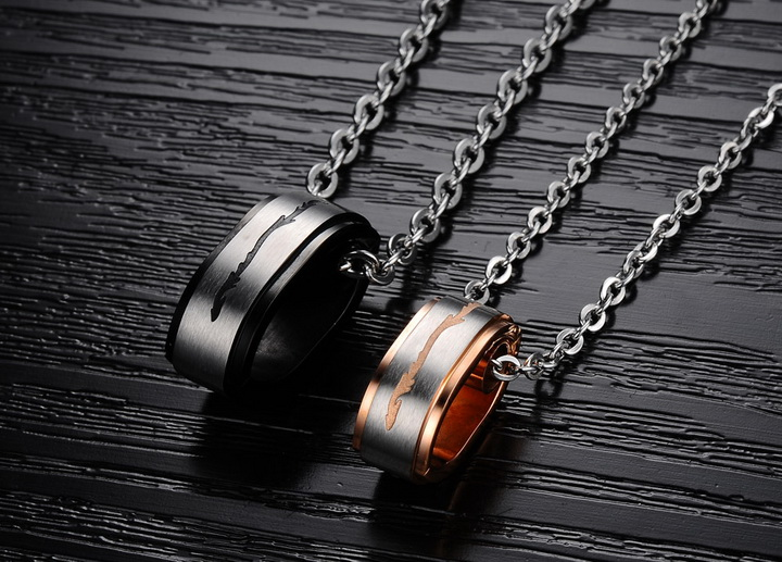 Wholesale Hot selling fashion stainless steel couples Necklace TGSTN120 3