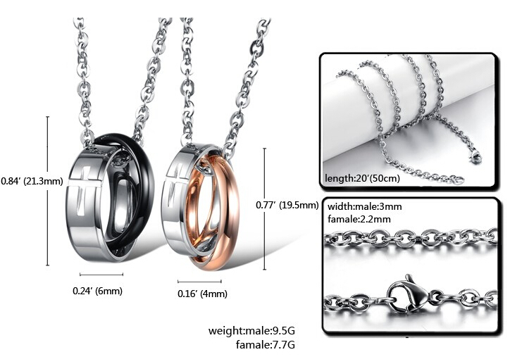 Wholesale Hot selling fashion stainless steel cross couples Necklace TGSTN036 5