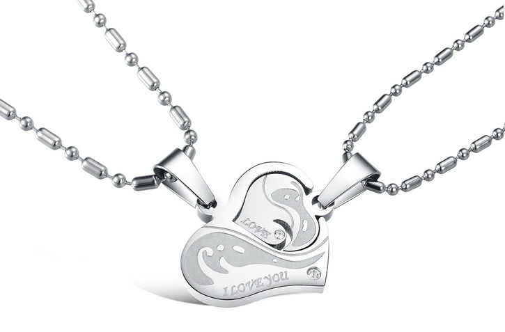 Wholesale Great Gift Love Symbols couples Necklace stainless steel Necklacepair TGSTN043 0