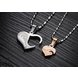 Wholesale Great Gift Love Symbols couples Necklace stainless steel Necklacepair TGSTN044 1