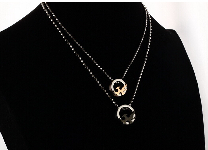 Wholesale 2018 New Style Fashion Stainless Steel Couples PendantsLover TGSTN083 7