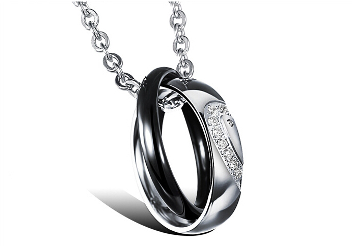 Wholesale New Style Fashion Stainless Steel Couples necklace New ArrivalLover TGSTN058 0