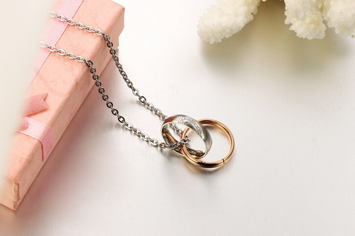 Wholesale New Style Fashion Stainless Steel Couples necklace New ArrivalLover TGSTN058 7