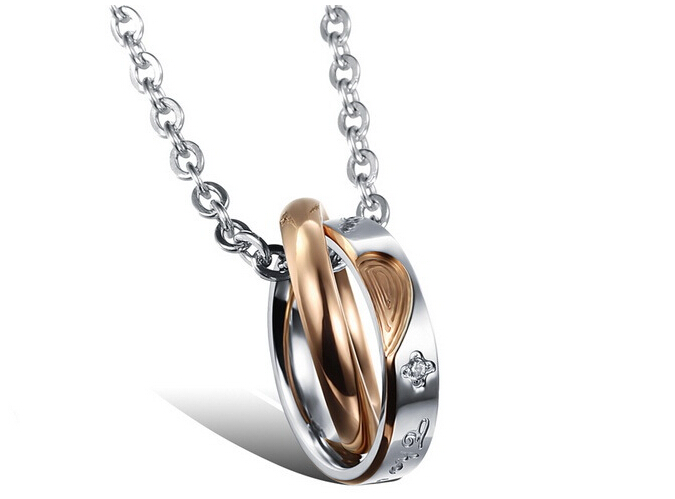 Wholesale New Style Fashion Stainless Steel Couples necklace New ArrivalLover TGSTN060 1