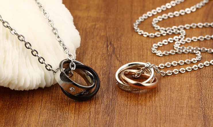 Wholesale New Style Fashion Stainless Steel Couples necklace New ArrivalLover TGSTN060 4