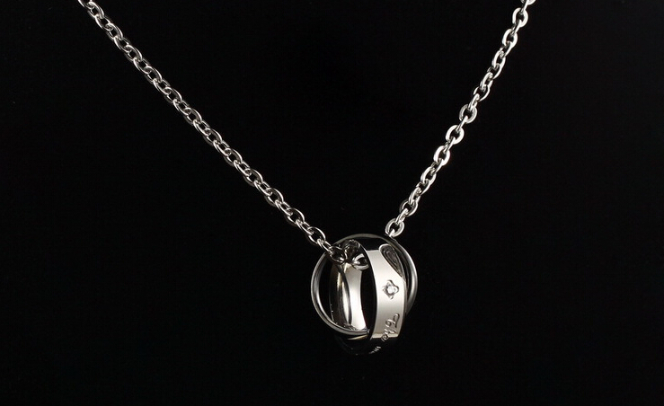 Wholesale New Style Fashion Stainless Steel Couples necklace New ArrivalLover TGSTN060 6