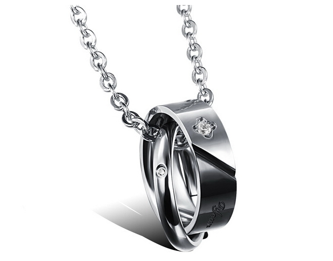 Wholesale New Style Fashion Stainless Steel Couples necklace New ArrivalLover TGSTN061 0