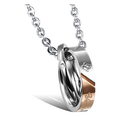 Wholesale New Style Fashion Stainless Steel Couples necklace New ArrivalLover TGSTN061 1