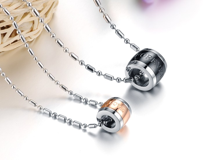 Wholesale Hot sale Stainless steel necklace couples Forever Love Necklace TGSTN027 0