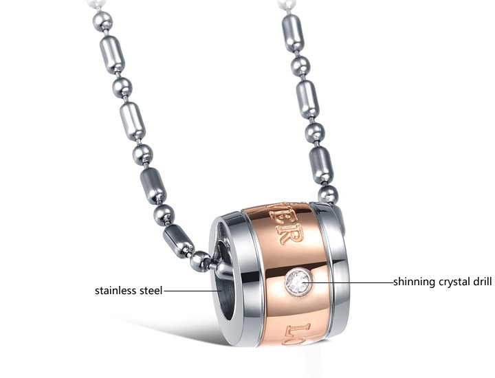 Wholesale Hot sale Stainless steel necklace couples Forever Love Necklace TGSTN027 2
