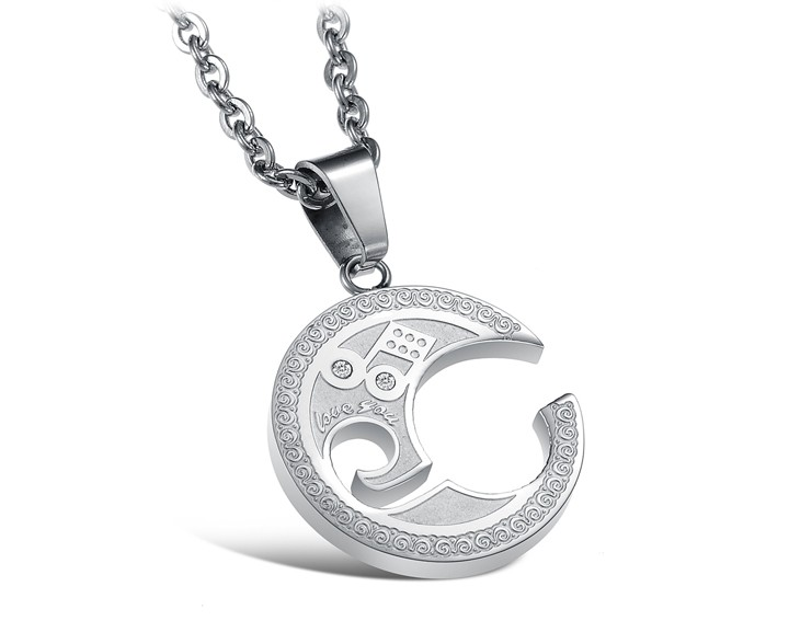 Wholesale The best gifts stainless steel collage couples Necklace TGSTN039 0