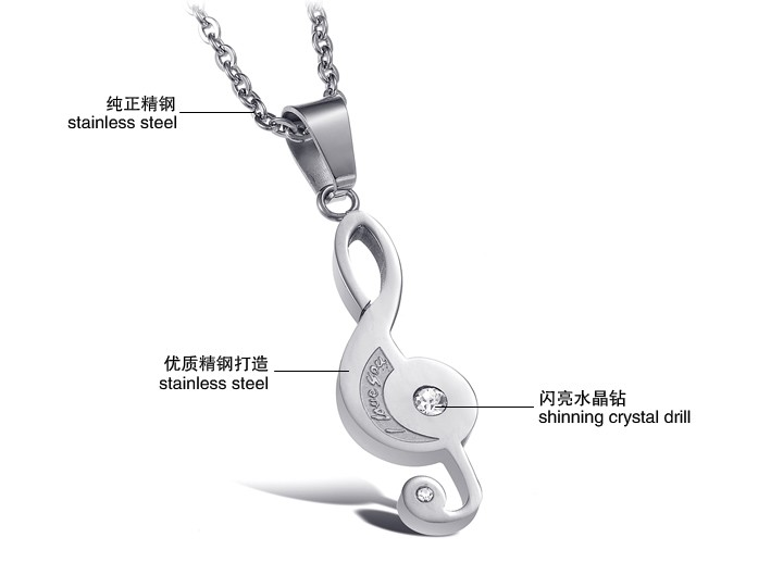 Wholesale The best gifts stainless steel collage couples Necklace TGSTN039 1