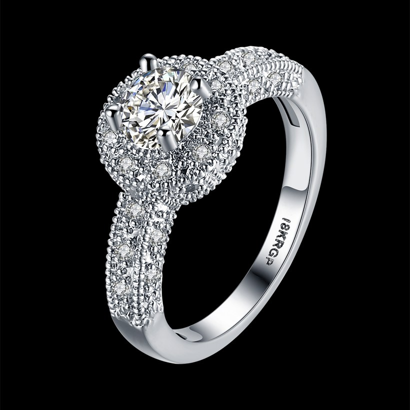 Wholesale Lose money promotion hot sell jewelry from China super shiny zircon platinum wedding party rings for women gift TGCZR410 0
