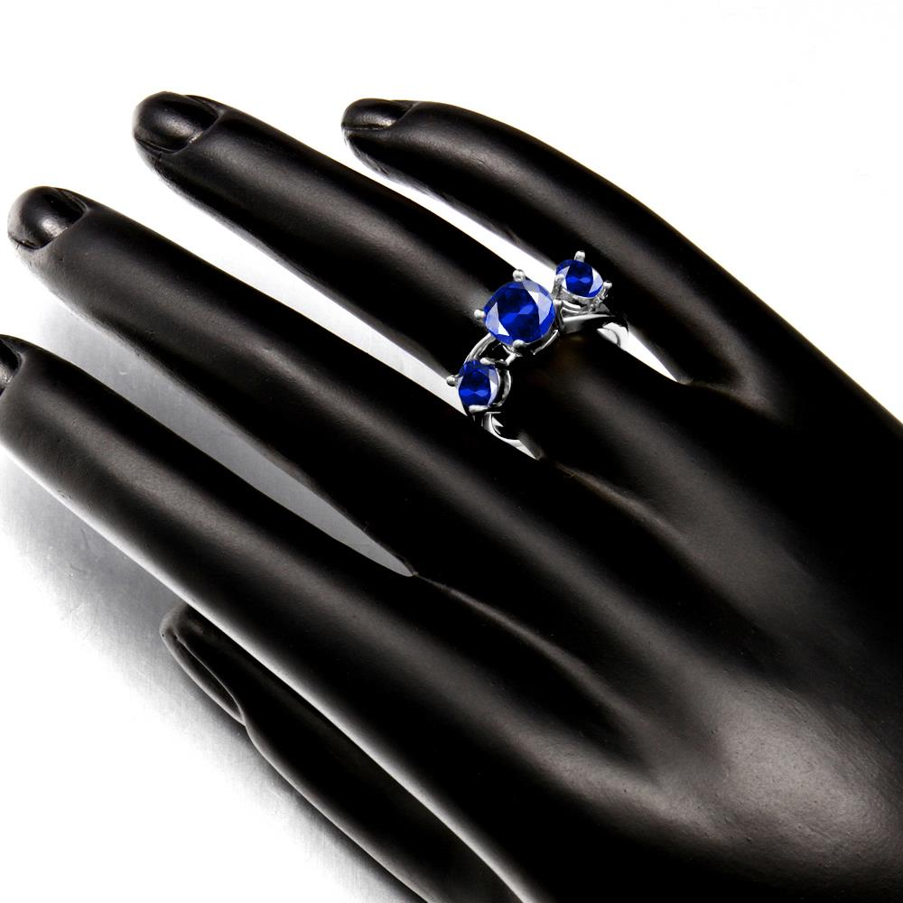 Wholesale Classic Platinum Round blue CZ Ring Luxury Ladies Party engagement wedding jewelry Best Mother's Gift TGCZR085 5
