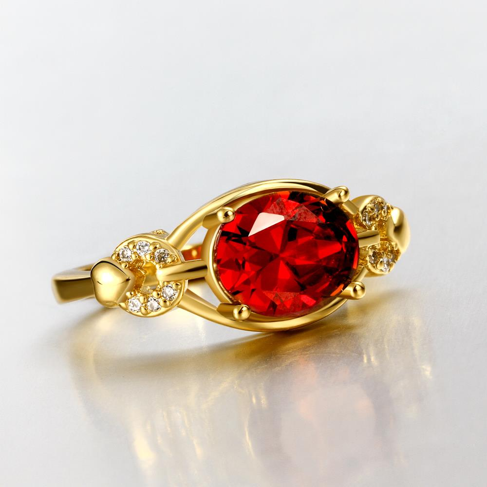 Wholesale Romantic 24k gold Court style Ruby Luxurious Classic Engagement Ring wedding party Ring For Women TGCZR278 3