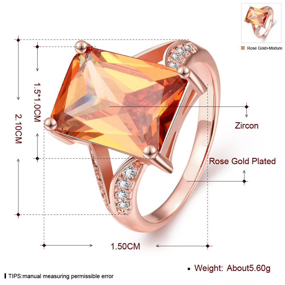 Wholesale ring series Classic 24K Gold plated yellow CZ Ring Luxury Ladies Party jewelry Best Mother's Gift TGCZR005 0