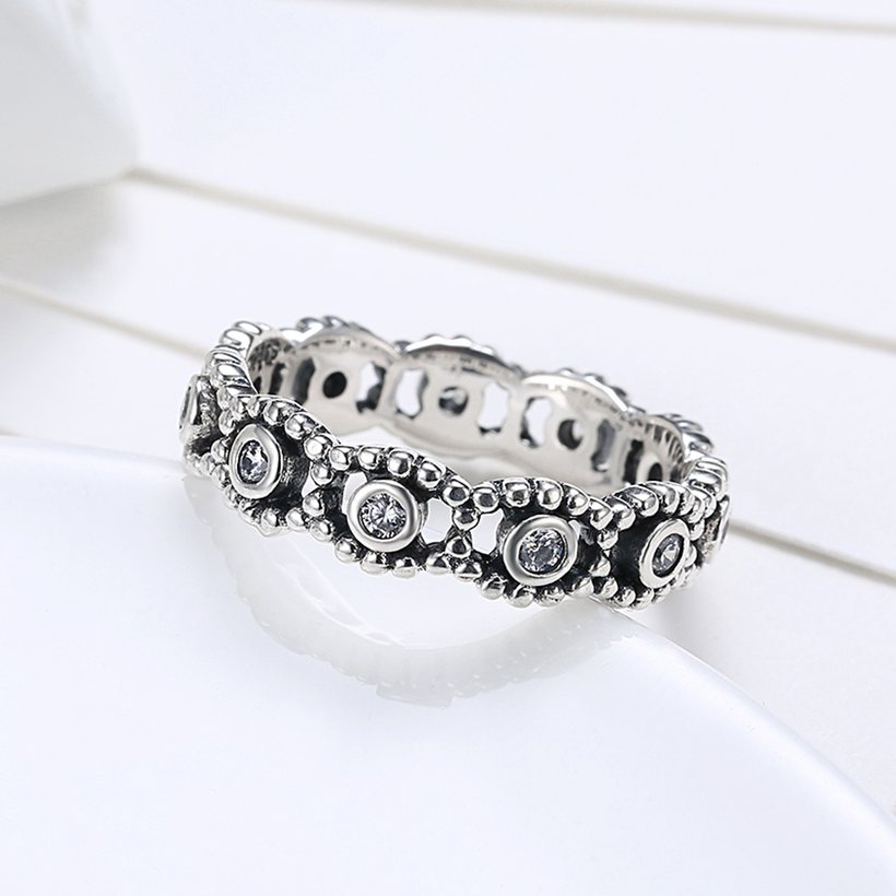 Wholesale Fashion wholesale Wedding Rings Sets 925 Sterling Silver Rings for Women Anniversary Eternity eyes shape Ring Jewelry TGSLR026 2