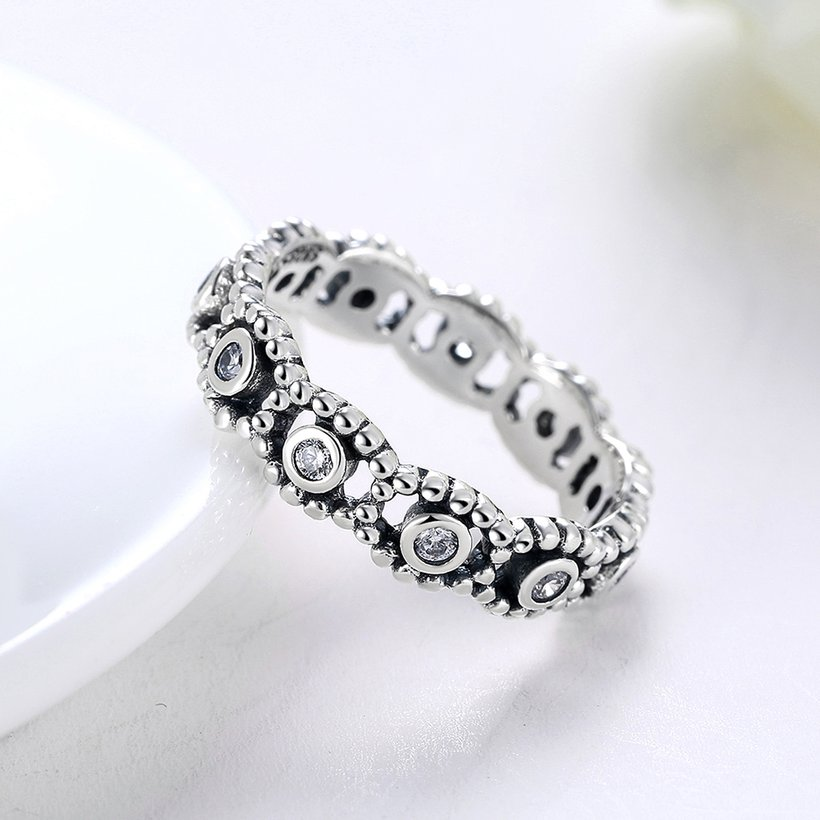 Wholesale Fashion wholesale Wedding Rings Sets 925 Sterling Silver Rings for Women Anniversary Eternity eyes shape Ring Jewelry TGSLR026 3
