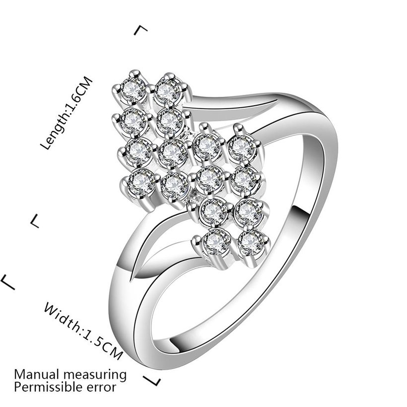 Wholesale New Creative Fashion Luxury Silver Plated ablaze Zircon Ring for Unisex Engagement Wedding Ring SPR574 0