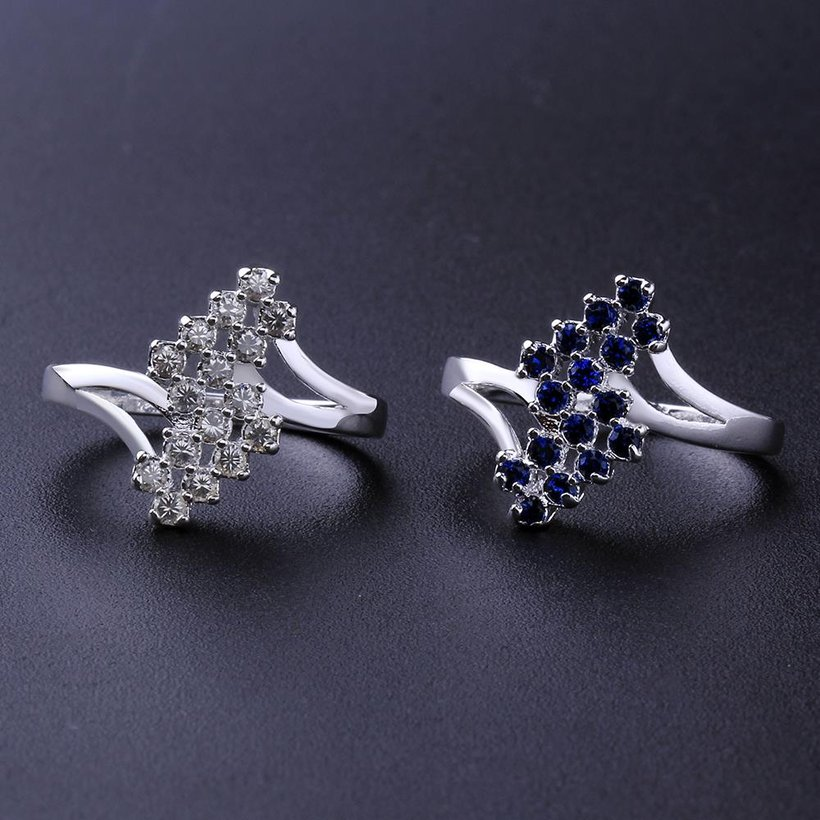 Wholesale New Creative Fashion Luxury Silver Plated ablaze Zircon Ring for Unisex Engagement Wedding Ring SPR574 1
