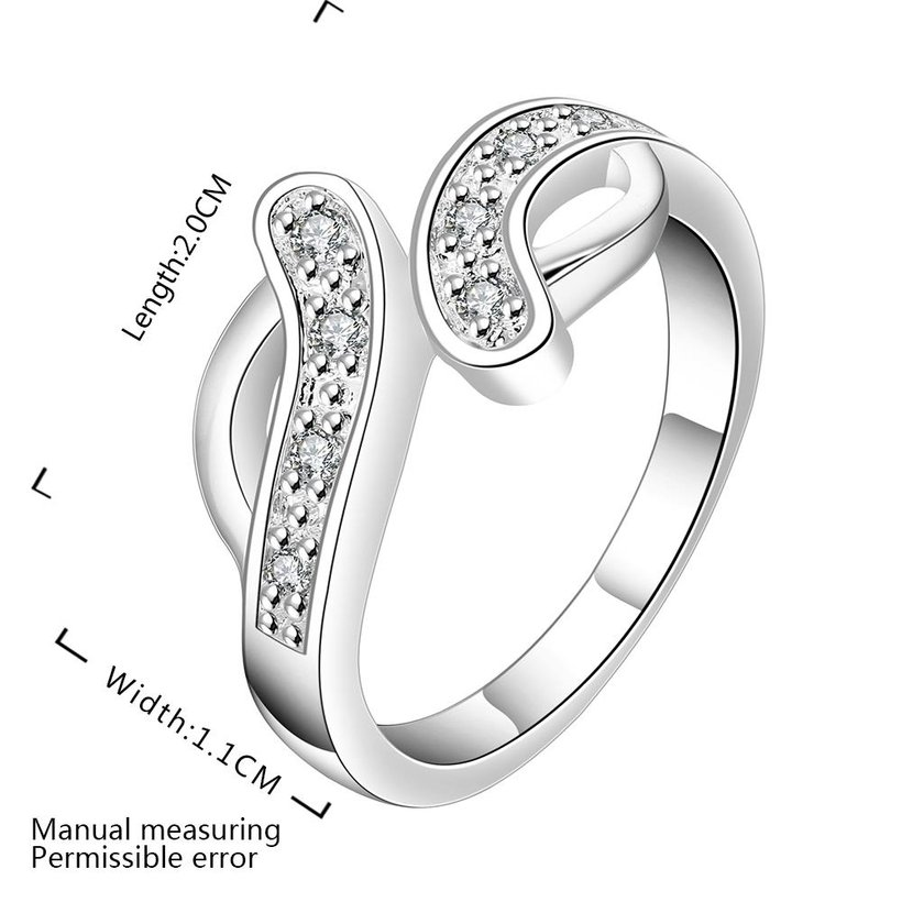 Wholesale New Creative Trendy Silver Plated Hot Sell Zircon Ring for Women SPR575 0
