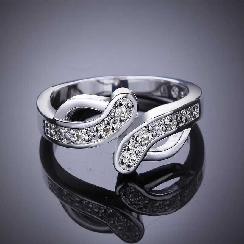 Wholesale New Creative Trendy Silver Plated Hot Sell Zircon Ring for Women SPR575 2