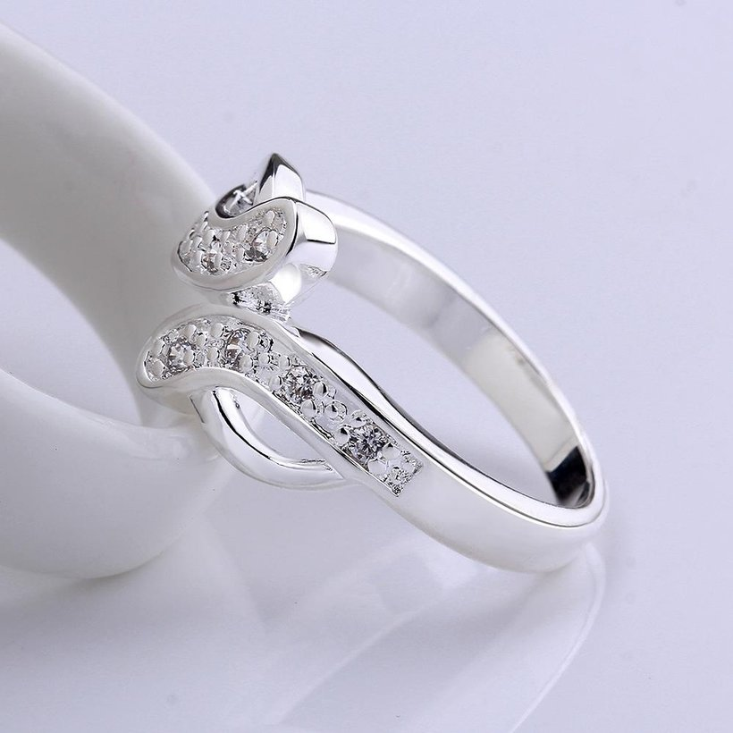 Wholesale New Creative Trendy Silver Plated Hot Sell Zircon Ring for Women SPR575 3