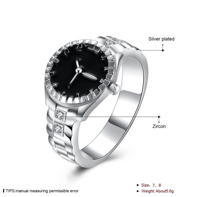 Wholesale Creative Watch shaped Fashion Ring Personality Lovers Ring Exquisite Jewelry Lovers Ring Hot Sale SPR610 0