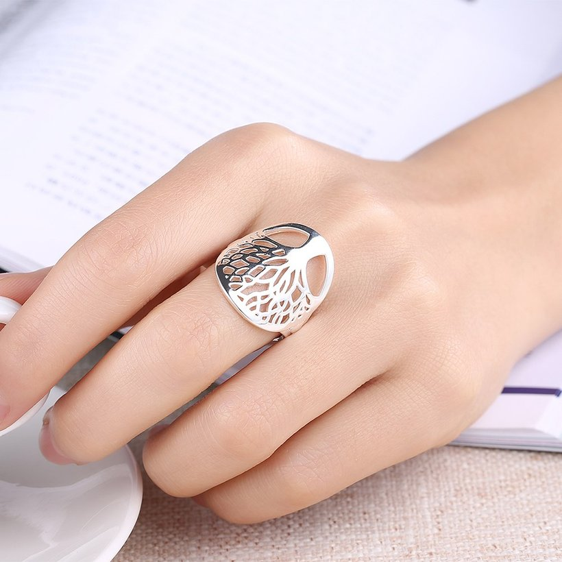 Wholesale Creative Design Silver Plated Tree of Life Rings for Women Classic Accessories Jewelry New Mother's Day Mom Gifts SPR626 0