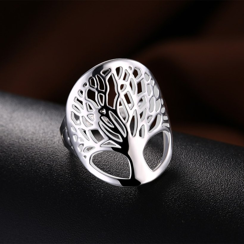 Wholesale Creative Design Silver Plated Tree of Life Rings for Women Classic Accessories Jewelry New Mother's Day Mom Gifts SPR626 1