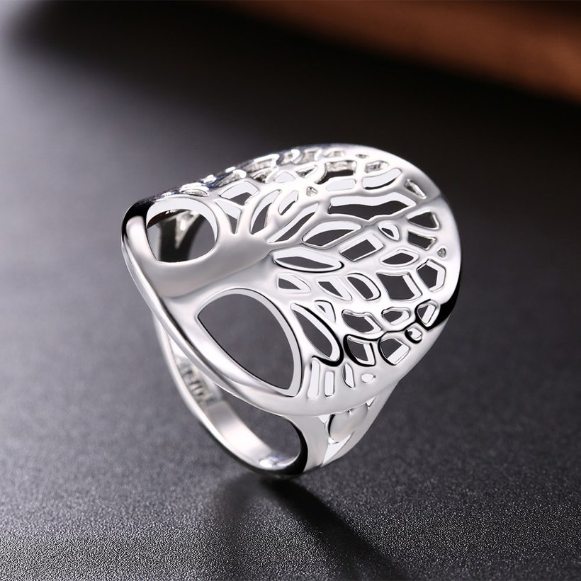 Wholesale Creative Design Silver Plated Tree of Life Rings for Women Classic Accessories Jewelry New Mother's Day Mom Gifts SPR626 2