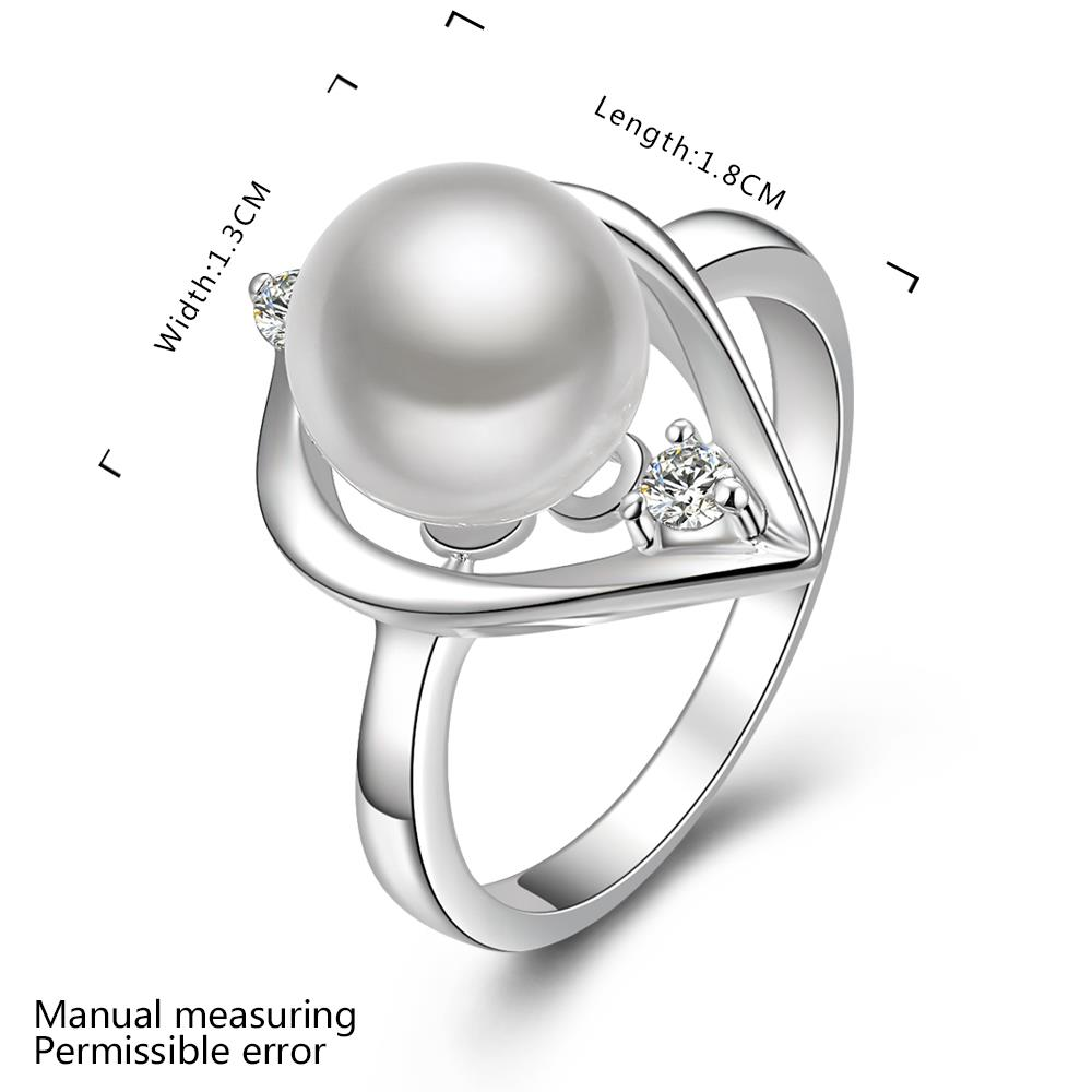 Wholesale Fashion white Pearl Rings for Women Jewelry Zircon Ring Accessories Wedding Engagement party TGSPR701 1