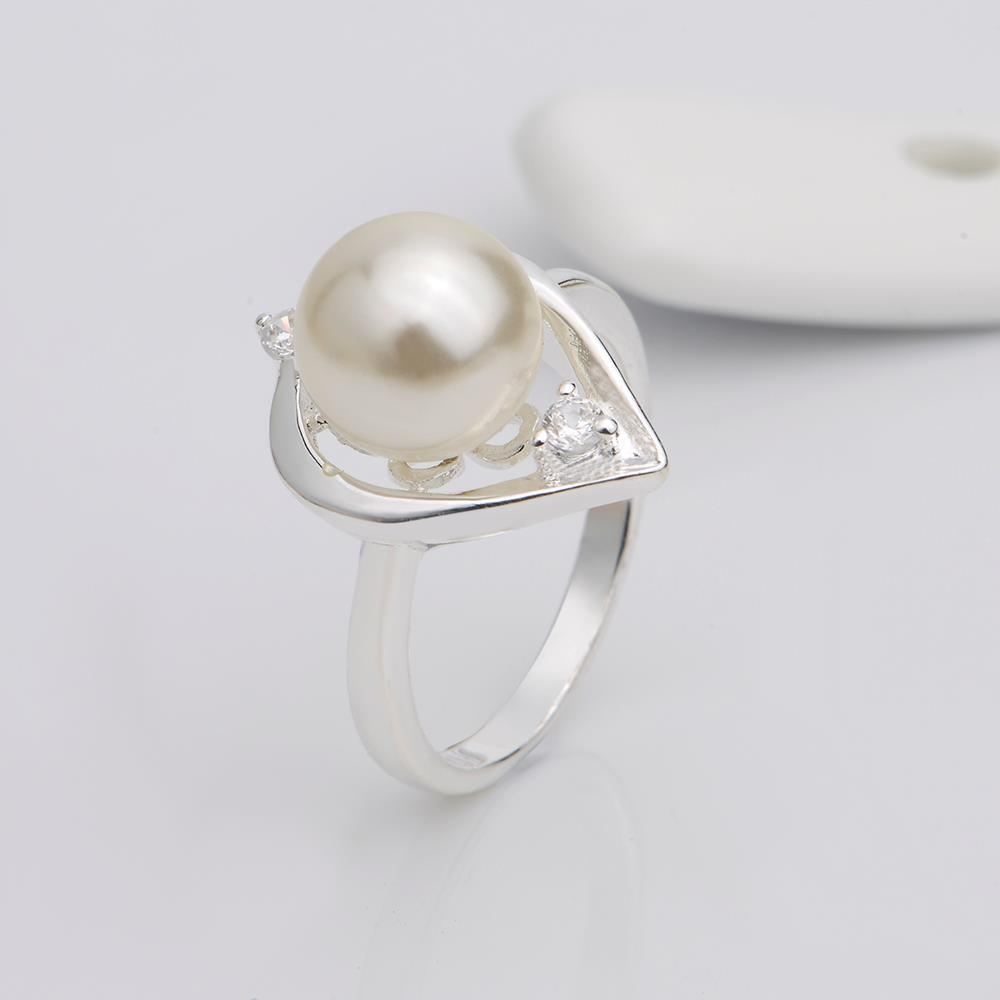 Wholesale Fashion white Pearl Rings for Women Jewelry Zircon Ring Accessories Wedding Engagement party TGSPR701 2