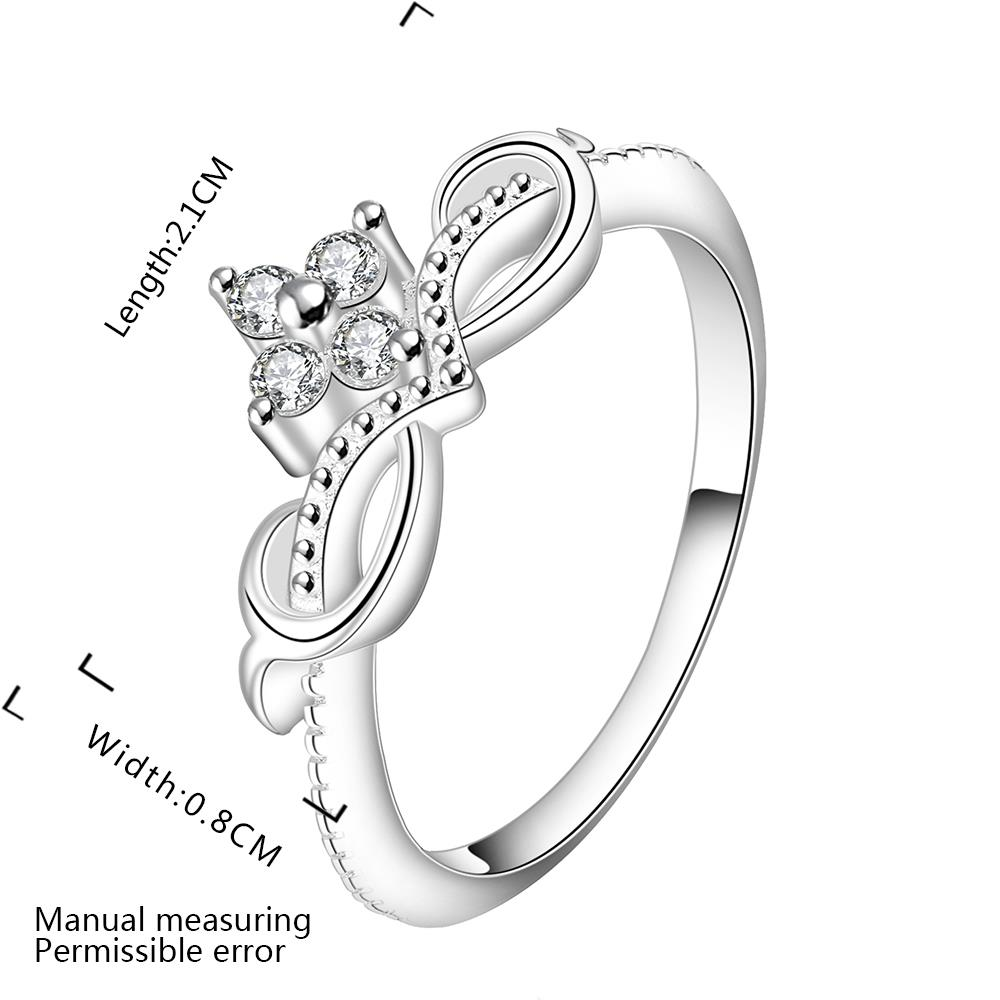 Wholesale Fashion Rings from China for Women Endless Love Symbol Wedding Personalized  Ring Jewelry Gift for Mother TGSPR201 1