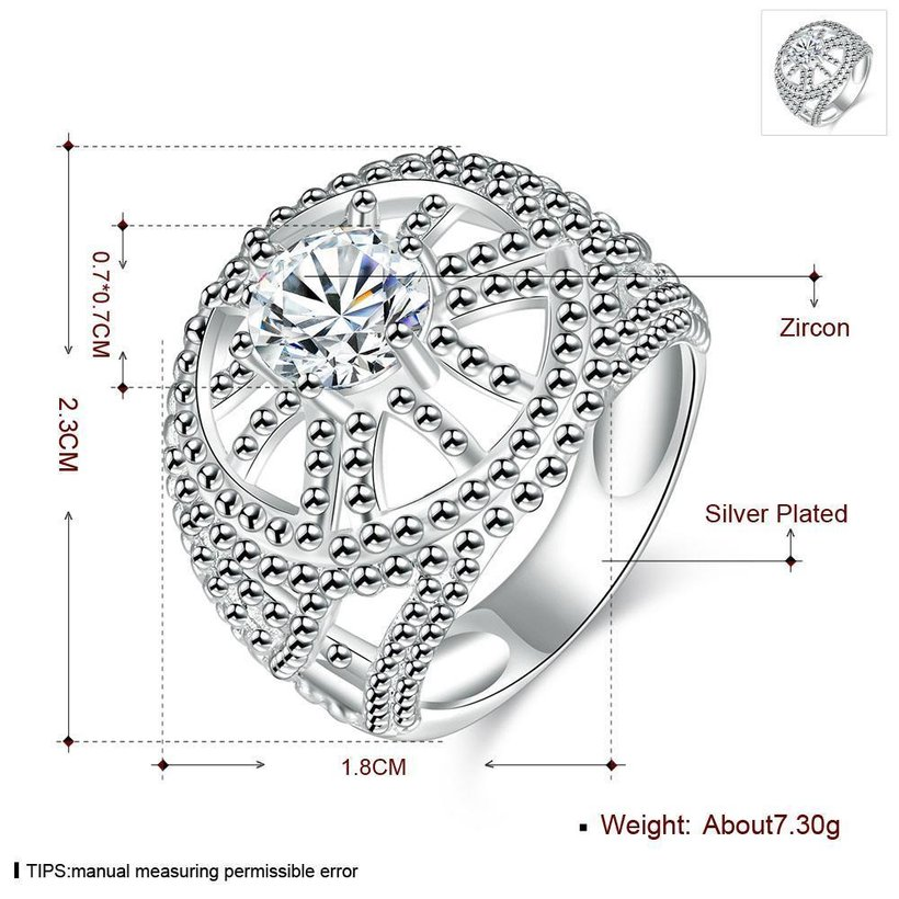 Wholesale rings from China for Lady Promotion Shiny white Zircon Openwork Multicolor Banquet Holiday Party Christmas Ring TGSPR140 3